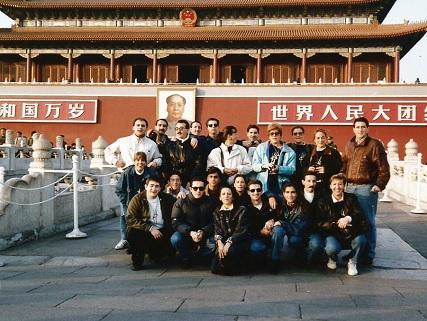 Mazantini en la Plaza de Tianamen, en Pekín
