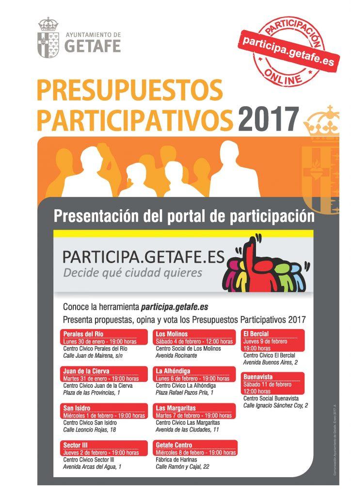 Getafe presenta a los vecinos el nuevo portal de participación online