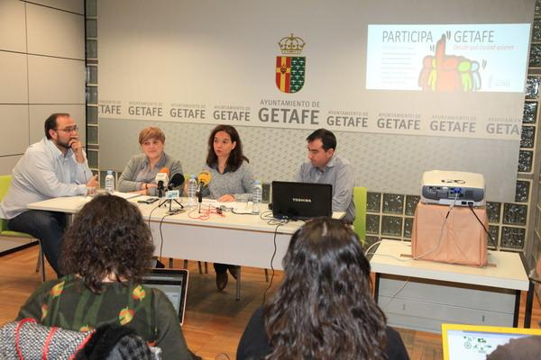 La alcaldesa de Getafe presenta el nuevo portal de participación para las consultas y votaciones online