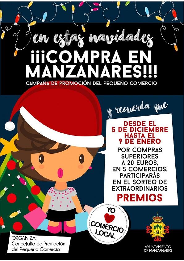 """Últimos días para participar en la campaña """"En estas Navidades, ¡Compra en Manzanares!»"""