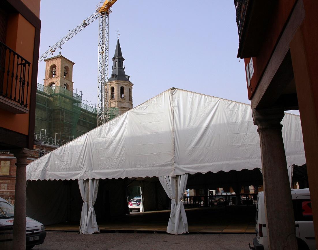 La carpa de Carnaval de La Solana es mayor que la del año 2016 y tendrá nueva orientación