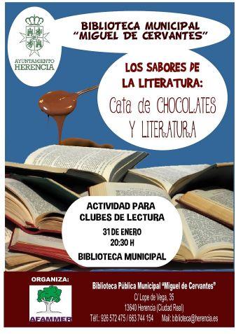 Los sabores de la Literatura en Herencia: Cata de Chocolates y Literatura