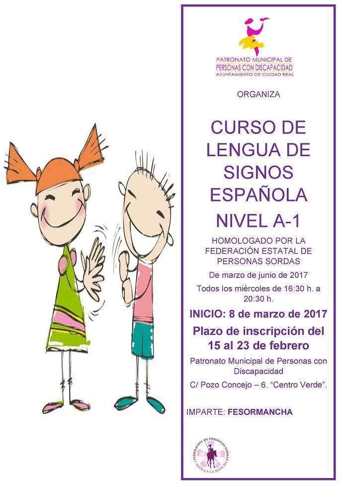El Patronato de Personas con Discapacidad organiza un curso A1 de Lengua de Signos Española