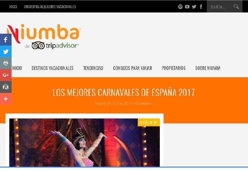 Niumba Tripadvisor selecciona el de Alcázar de San Juan como uno de los mejores Carnavales de España