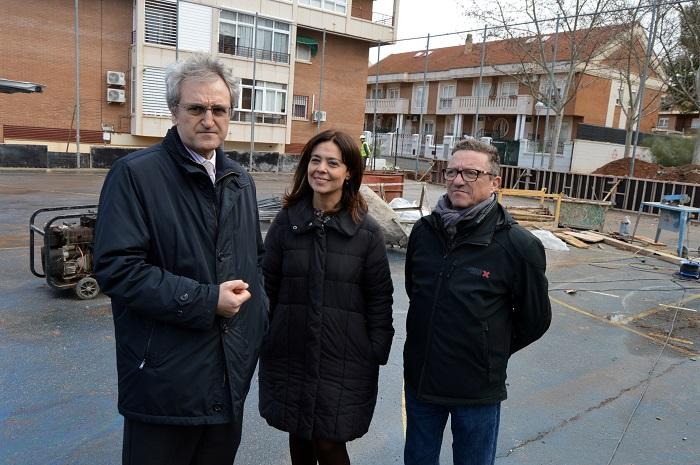 Comienzan las obras de mejora de la Pista Deportiva del Barrio de Los Ángeles de Ciudad Real