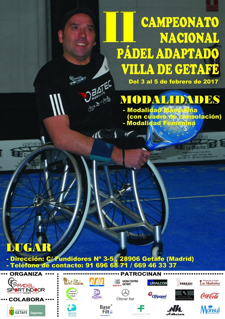 II Campeonato Nacional de Pádel Adaptado 'Villa de Getafe'