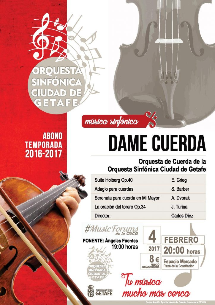Ópera, teatro, danza, fotografía música de cuerda y un espectáculo, agenda cultural de Getafe