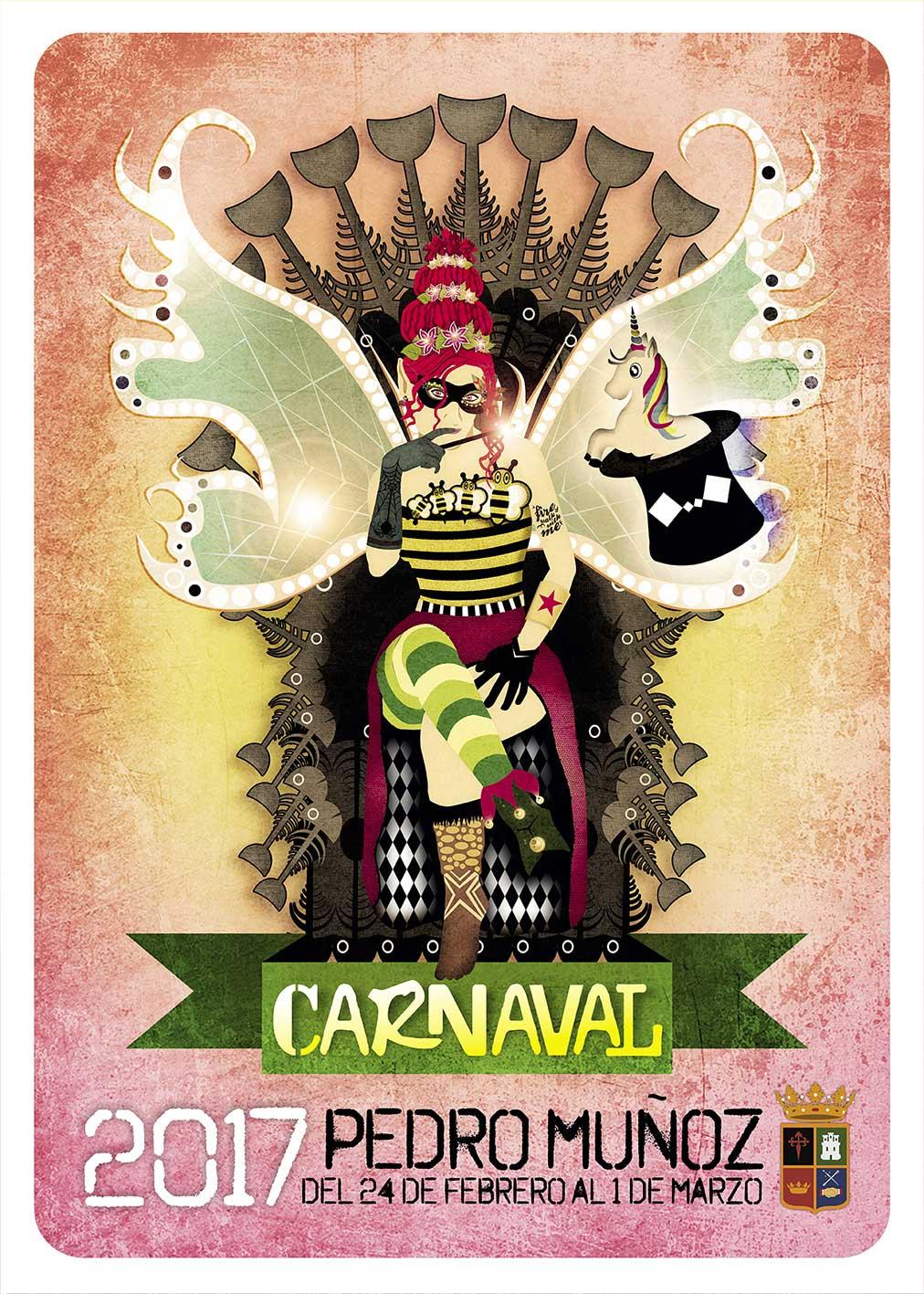 """La imagen del Carnaval de Pedro Muñoz será el cartel de Fatima García Rosado, bajo el lema """"CARANAVAL MÁGICO"""""""