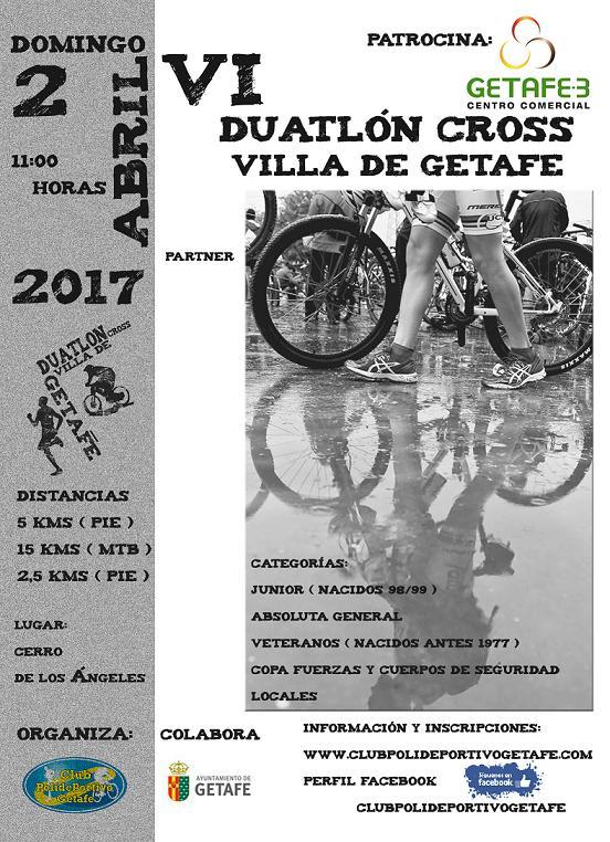 Se abre el plazo de inscripción para el VI Duatlón Cross 'Villa de Getafe'