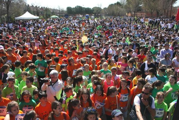 Record de participación en el Campeonato Escolar de Campo a Través de Getafe, con más de 6.900 niños y niñas