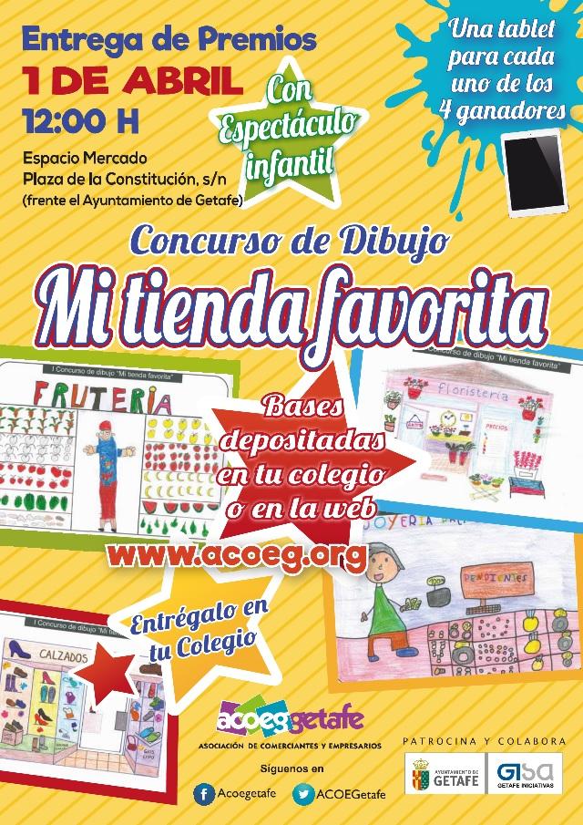 """II Concurso de dibujo """"Mi tienda favorita"""" de Getafe"""