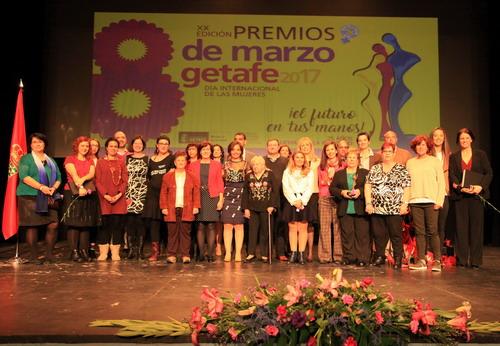 Getafe entregó los premios '8 de Marzo' para reconocer el trabajo por la igualdad