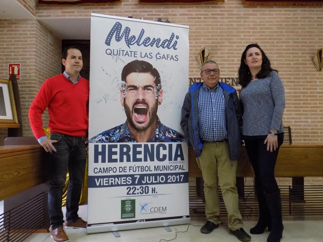 Melendi actuará en La Mancha el 7 de julio