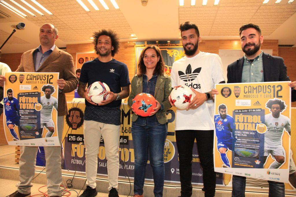 Marcelo y Caio presentan su Campus en Getafe
