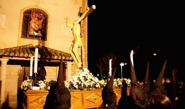 El 'Cristo de la Luz' procesiona el Martes Santo en Daimiel