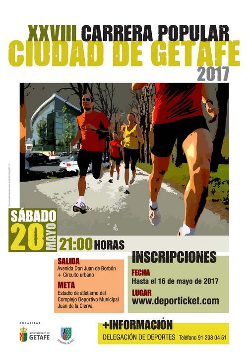 Abierto el plazo de inscripción de la XXVIII Carrera Popular 'Ciudad de Getafe' que se celebrará el 20 de mayo