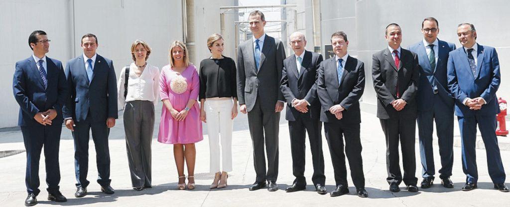 Los Reyes de España en la bodega en mayo de 2016 coincidiendo con el IV Centenario de la muerte de Cervantes