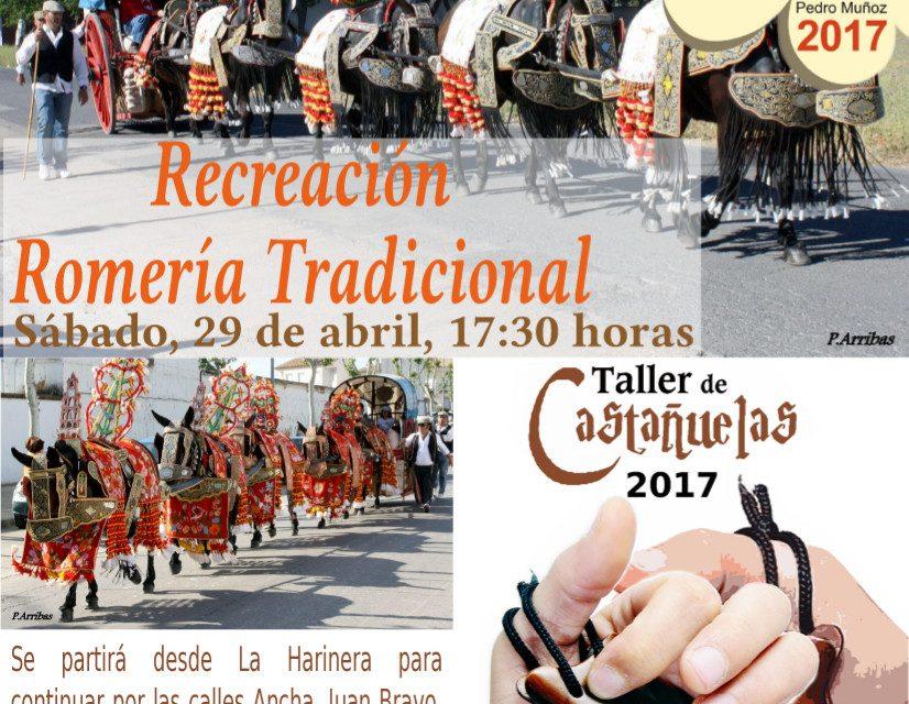 La recreación de una romería típica y el taller de castañuelas ambientarán mañana la tarde de mayos en Pedro Muñoz