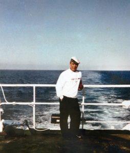 Alfonso Moreno en plena navegación