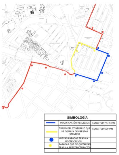 Modificación de la Línea 1A del autobús urbano de Ciudad Real