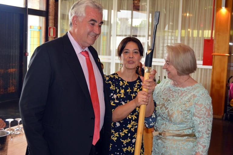 Pilar Zamora acompaña a los agricultores de Ciudad Real en su comida por San Isidro
