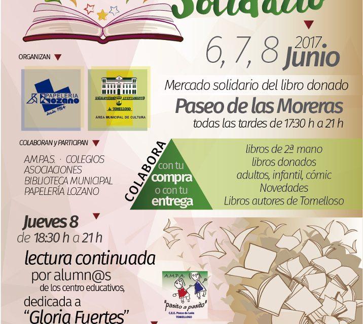 Del 6 al 8 de junio se celebrará en Tomelloso la II Feria del Libro Solidario organizada por el área de Cultura