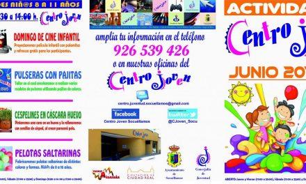 El Centro Joven de Socuéllamos presenta su programación de junio