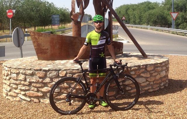 Javier Pérez Morales, en los Campeonatos de España de Ciclismo Sub23