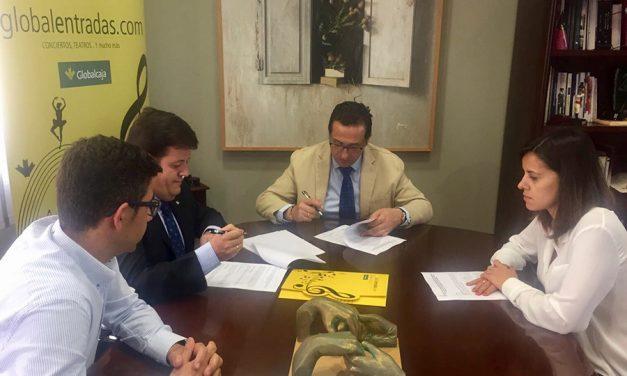 El Ayuntamiento de Campo de Criptana y Globalcaja firman un convenio de colaboración para la venta de entradas online