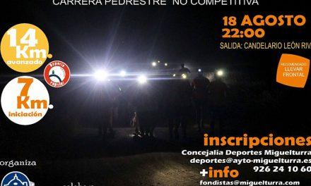 """La noche del viernes 18 de agosto Miguelturra vivirá una nueva edición de la carrera pedestre no competitiva """"Quedada Nocturna"""""""
