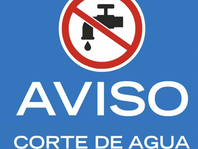 Corte de agua por una avería importante en la tubería que abastece a la población