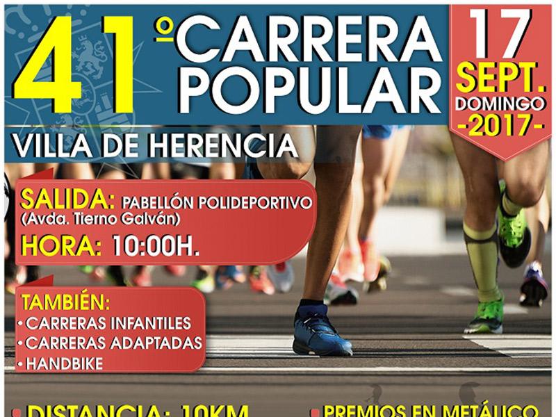 """Abierto el plazo de inscripción para la Carrera Popular """"Villa de Herencia"""""""