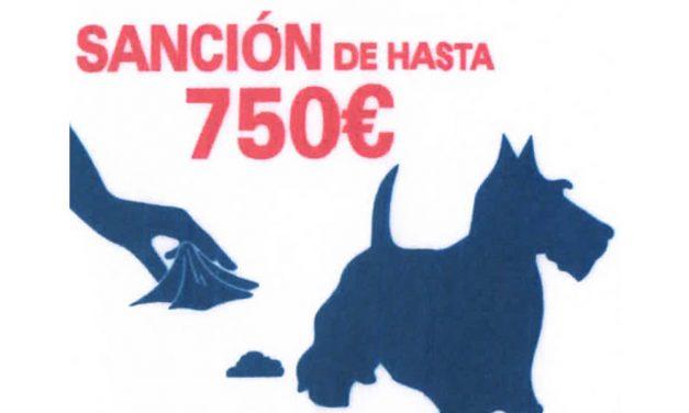 No recoger los excrementos de los perros puede suponer una sanción de hasta 750 euros