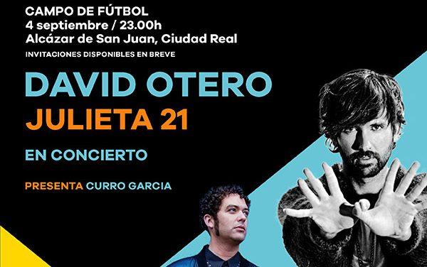 David Otero, artista estrella del concierto de Los 40 y el Ayuntamiento de Alcázar San Juan