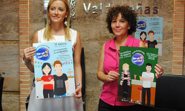 Valdepeñas se une a la campaña 'Sin un sí es no' frente a las agresiones sexuales