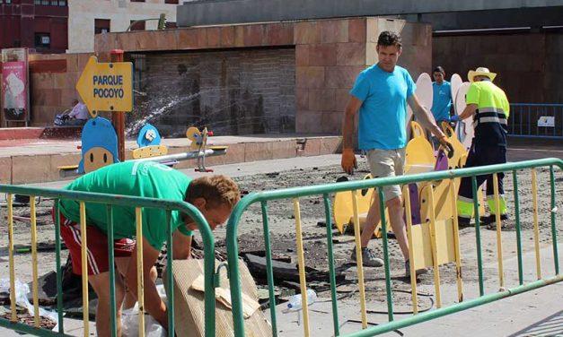 El Ayuntamiento ampliará el parque infantil de la Plaza