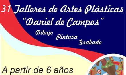 """Abierto el plazo de matrícula para los 31 Talleres de Artes Plásticas """"Daniel de Campos"""""""