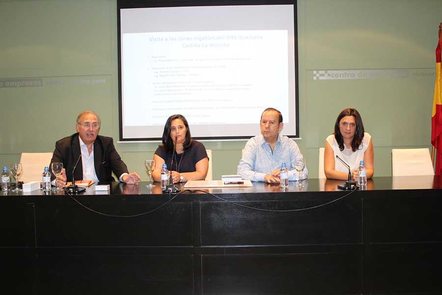 Una delegación del gobierno de México visita Alcázar interesados por la Universidad Internacional de Riego