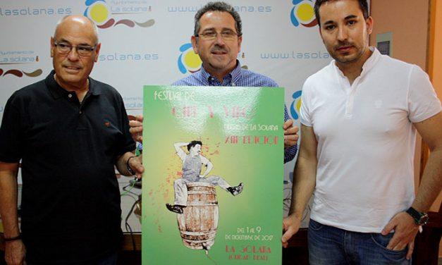 """El XIII Festival de Cine y Vino """"Ciudad de La Solana"""" presenta su imagen oficial, obra de Lourdes Alhambra"""