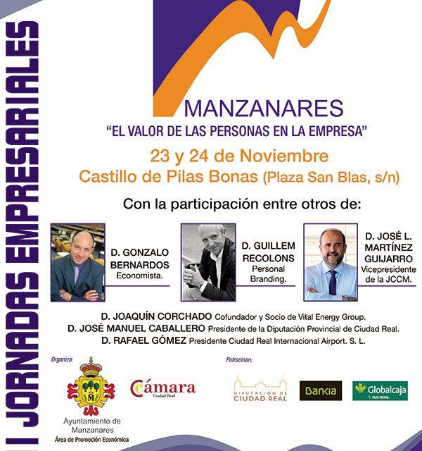 VII Jornadas empresariales en Manzanares el 23 y 24 de noviembre