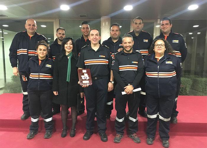 Protección Civil Valdepeñas es reconocida con la 'Placa de Protección Civil de CLM 2017'