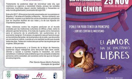 """Bajo el lema """"Ponle fin para tener un principio"""" se celebran los actos reivindicativos contra la Violencia de Género en Herencia"""