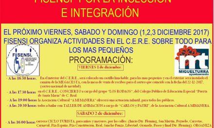 """""""Fisensi"""", en colaboración con el Ayuntamiento, organiza actividades del viernes 1 al domingo 3 con motivo del Día Internacional de personas con discapacidad"""