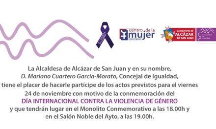 Los actos del Día contra la violencia de género se realizarán mañana 24 de noviembre