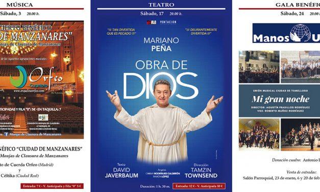 El actor Mariano Peña protagonizará una de las grandes citas de la programación cultural de febrero