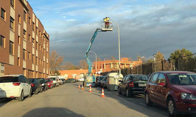 Instaladas 86 nuevas luminarias de bajo consumo entre la zona de los institutos y el hospital de Alcázar