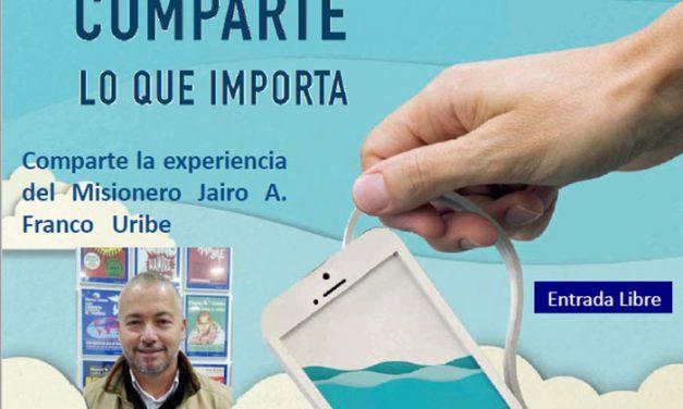 """El misionero Jairo A. Franco """"comparte lo que importa"""" en la charla de Manos Unidas"""