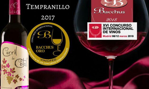 Baccus Oro para el Tempranillo Carril de Cotos 2017 de San Isidro de Pedro Muñoz