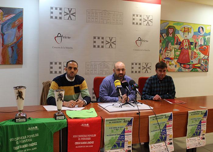 El concejal de Deportes asiste a la presentación de la XXX Carrera Popular Cirilo Ramiro Jiménez