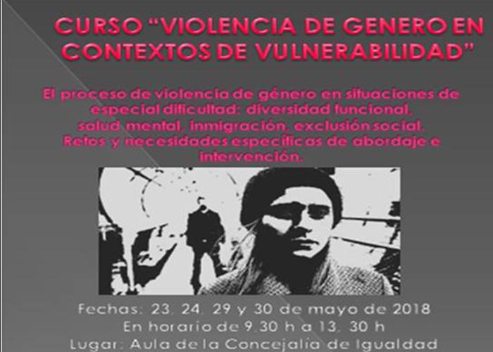 """Igualdad abre el plazo de inscripción para el curso """"Violencia de Género en contextos de vulnerabilidad"""""""